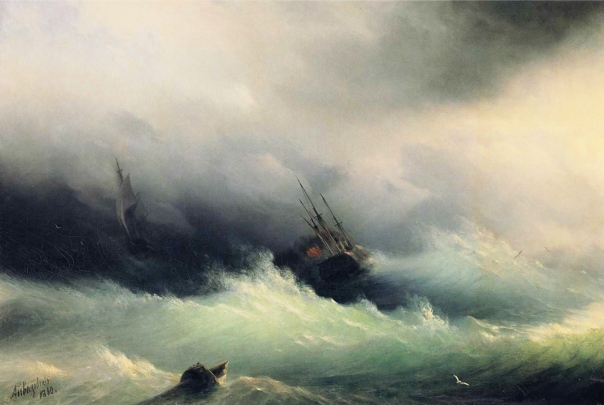 Ivan_Constantinovich_Aivazovsky_-_Ships_in_a_Storm
